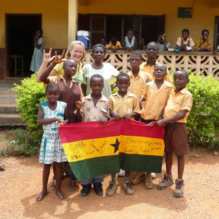 Marlene is deaf and has completed her voluntary service in Ghana.