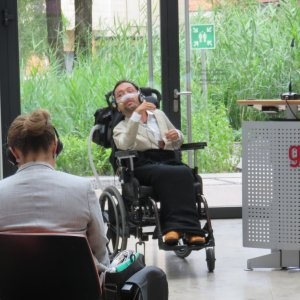 Victor Pineda, activist for the rights of people with disabilities and president of the Global Alliance on Accessible Technologies and Environment (GAATES)